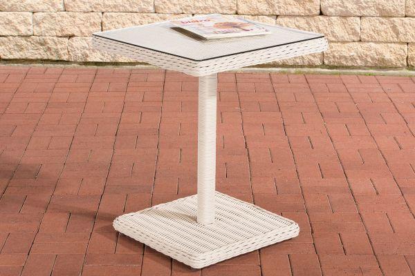 Tisch Palermo 5mm perlweiß