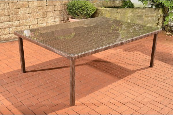 Tisch Pizzo/Tropea 210x150 cm braun-meliert