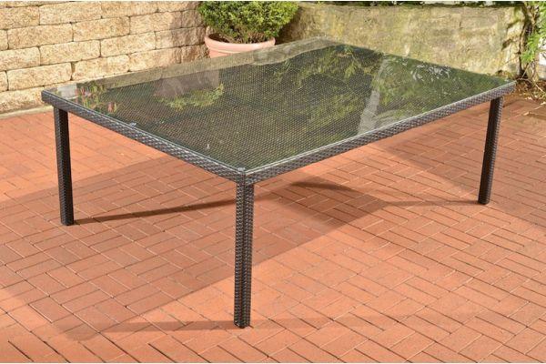 Tisch Pizzo/Tropea 210x150 cm schwarz