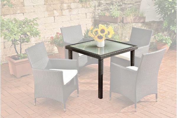 Tisch Rio Glas schwarz