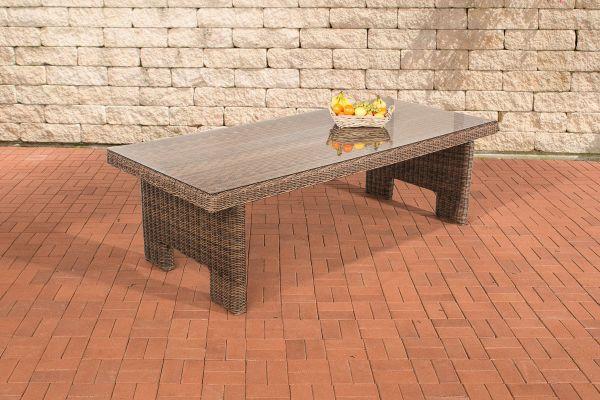 Tisch Sandnes 220 cm 5mm braun-meliert