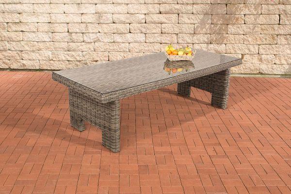 Tisch Sandnes 220 cm 5mm grau-meliert