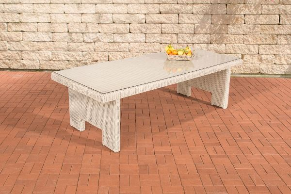 Tisch Sandnes 220 cm 5mm perlweiß