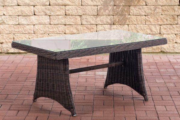 Tisch Sorano / Siena 5mm braun-meliert