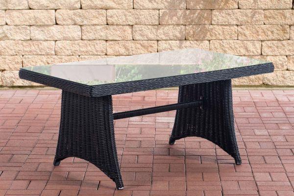 Tisch Sorano / Siena 5mm schwarz