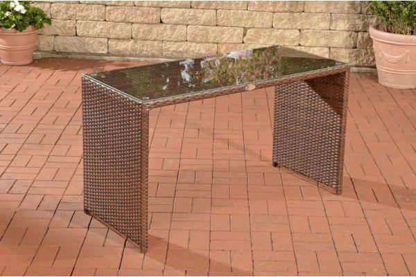 Tisch Tahiti 128x56x74,5 cm braun-meliert
