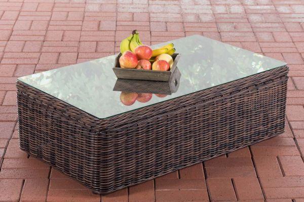 Tisch Tibera 5mm braun-meliert