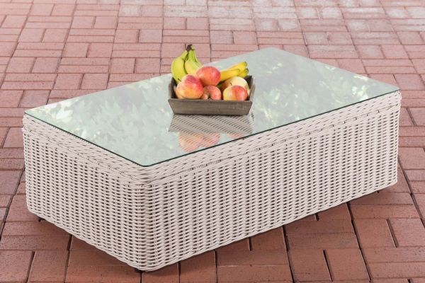 Tisch Tibera 5mm perlweiß