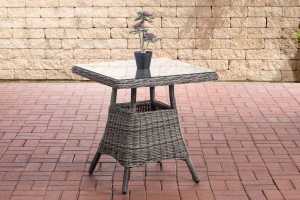 Tisch Vaulen Rundrattan grau-meliert