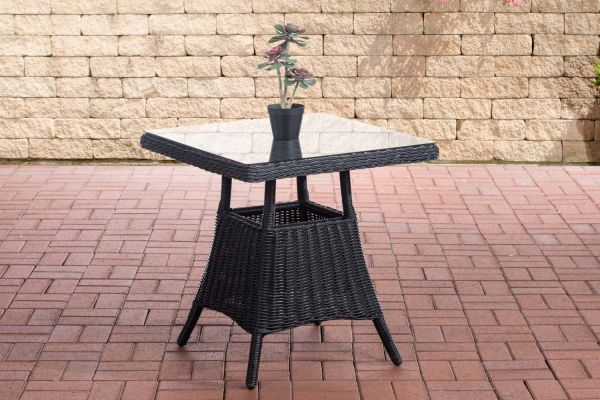 Tisch Vaulen Rundrattan schwarz
