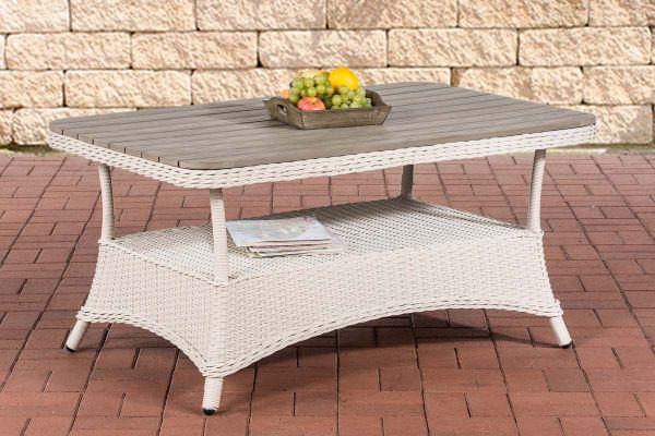 WPC-Tisch Pandora 120x80 perlweiß