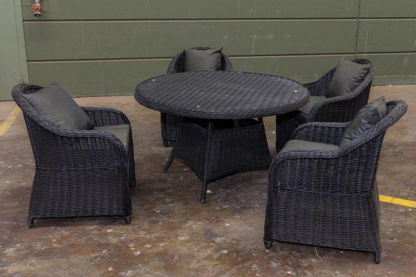 #G Garnitur 94: 4er Set Stuhl mit Esstisch Stavanger 5mm