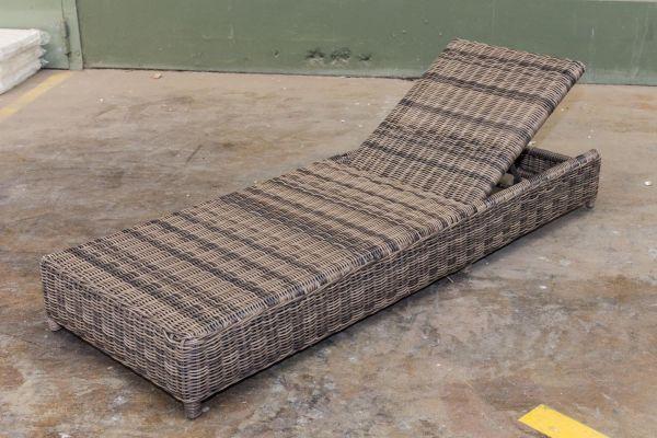 #G Garnitur 99: Relaxliege Burano graumeliert-grau-meliert