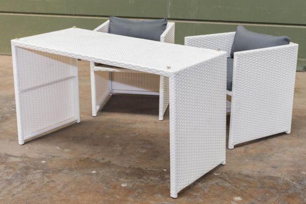 #G Garnitur 106: 2er Set Stuhl Tahiti mit Tisch