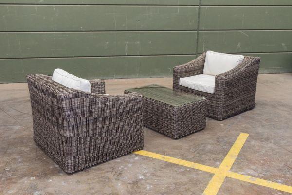 #G 2er Set Sessel Bemalda mit Tisch 5mm