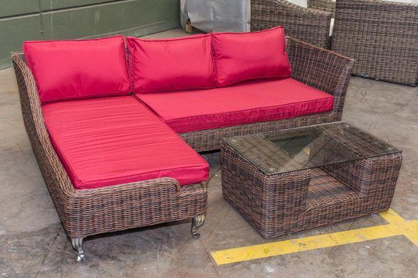 #G Garnitur 120: Gartengarnitur Moss ohne Sessel 5mm