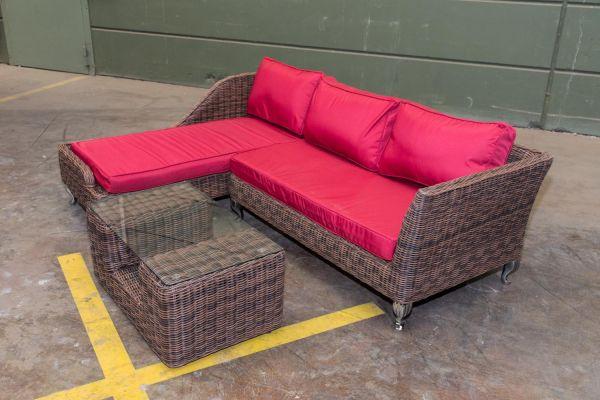 #G Garnitur 121: Gartengarnitur Moss ohne Sessel 5mm