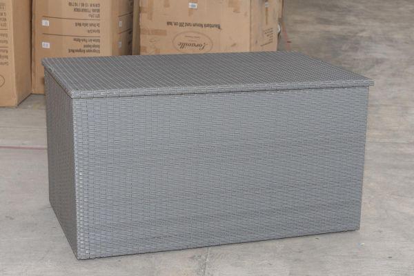 #G Garnitur 156: Auflagenbox XL grau-grau