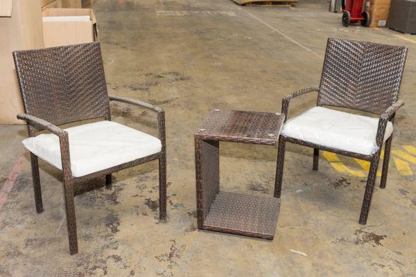 #G 307: 2er Set Stuhl Neapel mit Tisch Parma