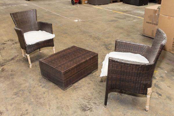 #G 308: 2er Set Stuhl Estelle mit Tisch 70x53x31 cm