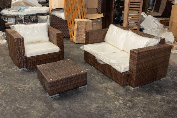 #G 411: 2er Sofa und Sessel Provence mit Tisch