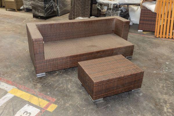 #G 418: 3er Sofa Provence mit Tisch