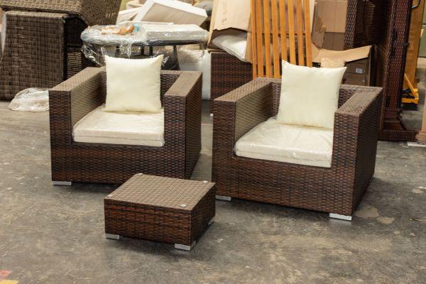 #G 422: 2er Set Sessel 3-1-1 mit Tisch