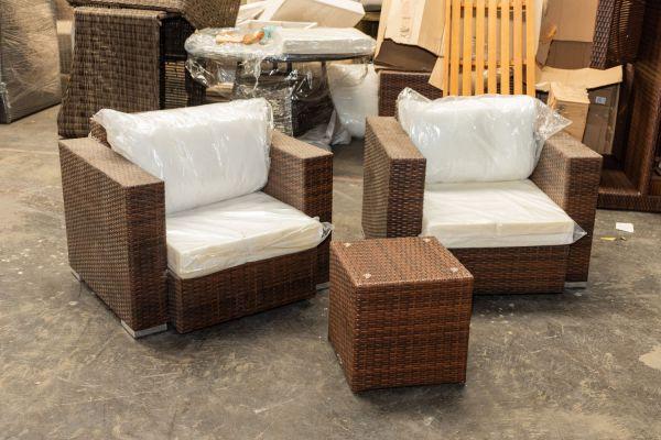 #G 430: 2er Set Sessel Provence mit Tisch Vilato
