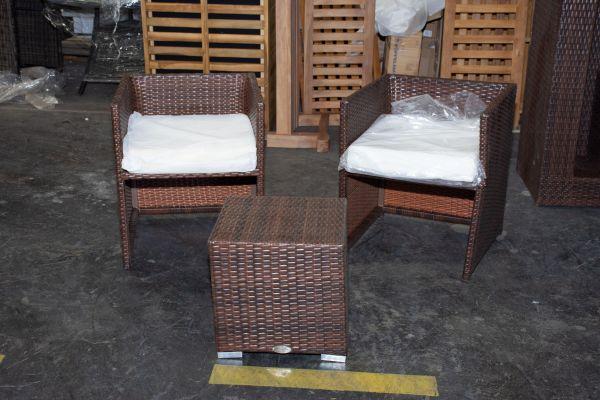 #G 503: 2er Set Stuhl Tahiti mit Beistelltisch Barcelona