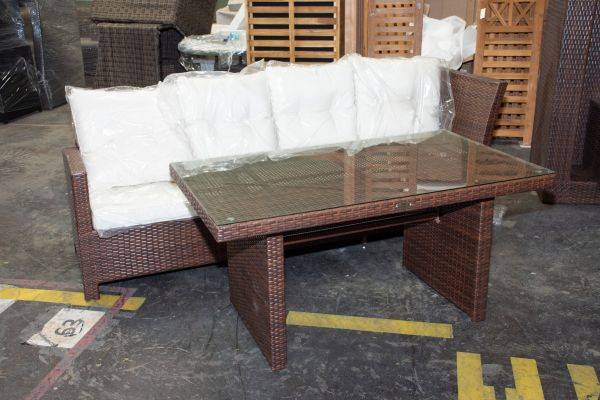 #G 505: 3er Sofa Bermeo mit Tisch Bermeo