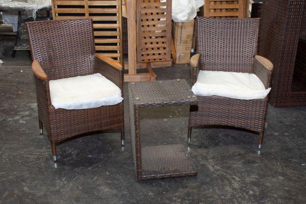 #G Garnitur 510: 2er Set Stuhl Milton mit Tisch Parma
