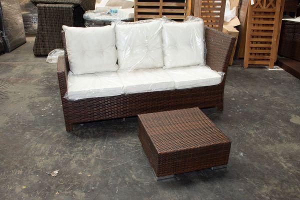 #G 523: 3er Sofa Bermeo mit Tisch
