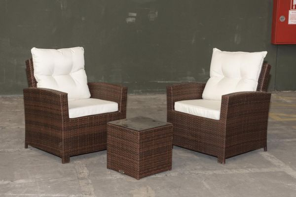 #G Garnitur 20: 2er Set Stuhl Fisolo mit Beistelltisch Tunis