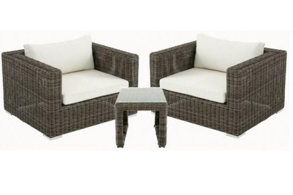 M# 2er Set Sessel mit Beistelltisch Casablanca 5mm