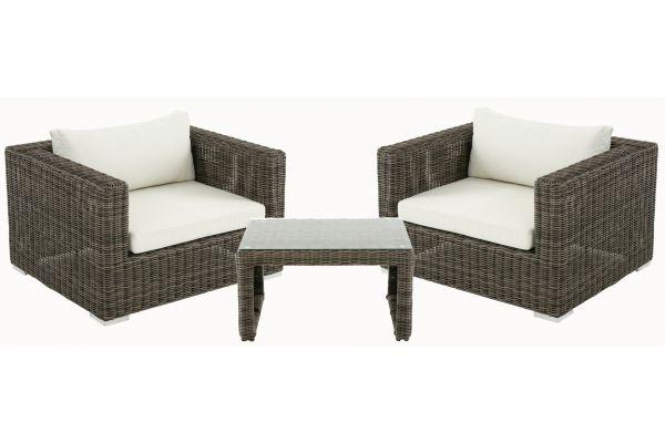 M# 2er Set Sessel mit Kaffeetisch Casablanca 5mm