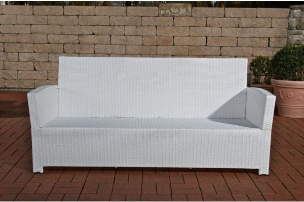 PT# 3er Sofa Fisolo weiß-weiß