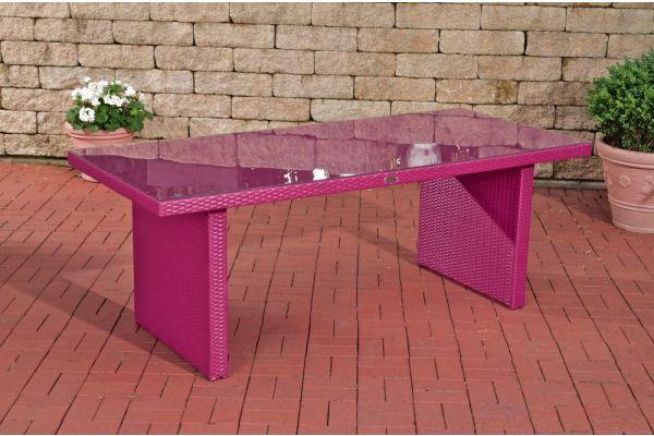 #G Tisch Avignon BIG 200x90 cm-pink