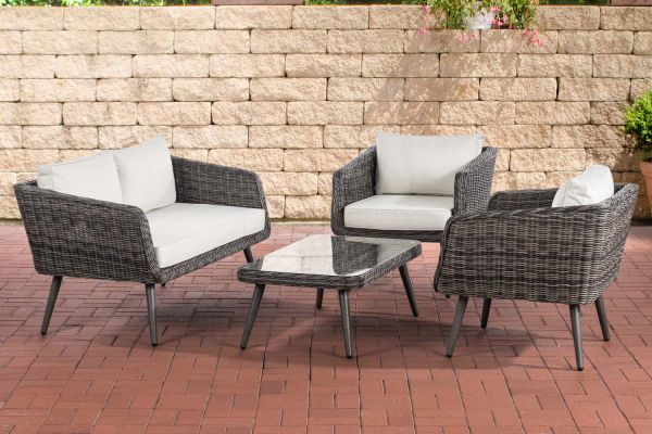 HBM# Lounge-Set Trosa 5mm grau-meliert