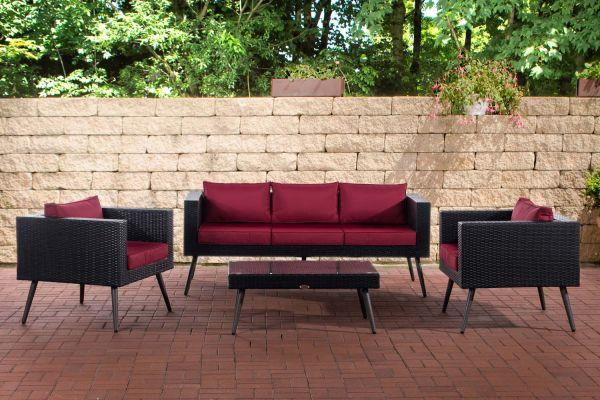 HBM# 3-1-1 Lounge-Set Molde schwarz