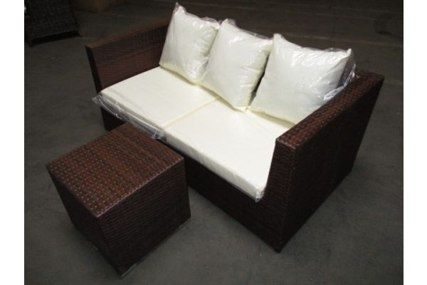 #HBM 1786: 2er Sofa bestehend aus 2 Eckelementen Bologna mit Beistelltisch Barcelona