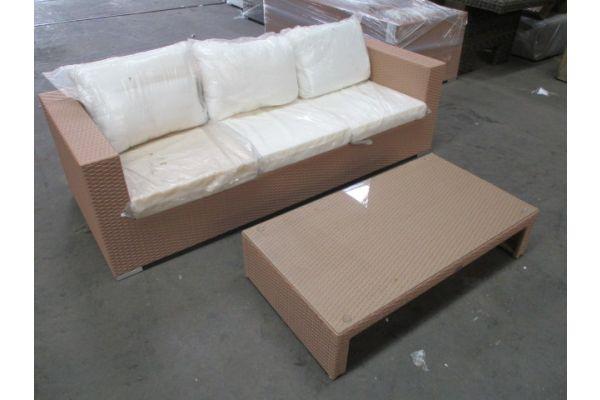 #HBM 1734: 3er Sofa + Tisch Casablanca