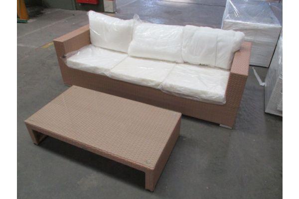 #HBM 1738: 3er Sofa + Tisch Casablanca