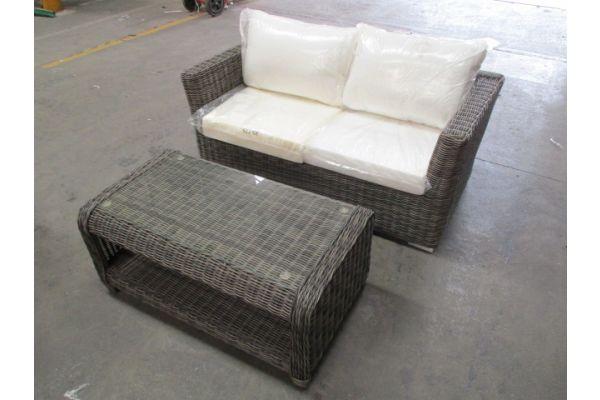 #HBM 1747: 2er Sofa Mandal mit Tisch San Fernando 5mm