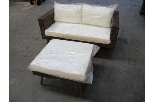 #hbm 1754: Sofa + Fußhocker Molde