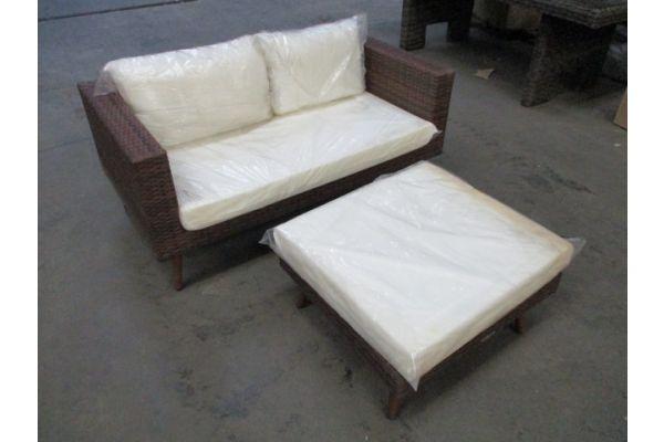 #hbm 1755: Sofa + Fußhocker Molde