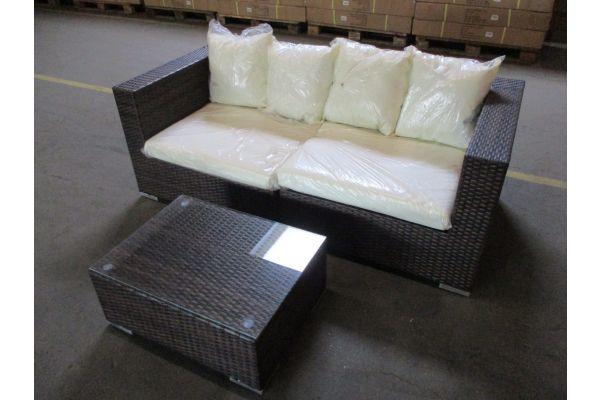 #HBM 1781: 2er Sofa bestehend aus 2 Eckelementen mit Tisch 3-1-1