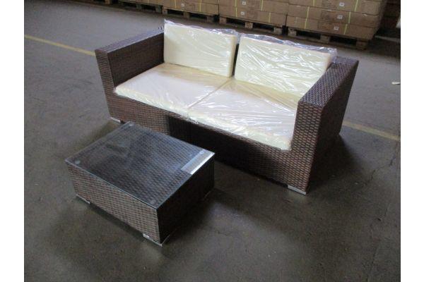 #HBM 1782: 2er Sofa bestehend aus 2 Eckelementen mit Tisch 3-1-1