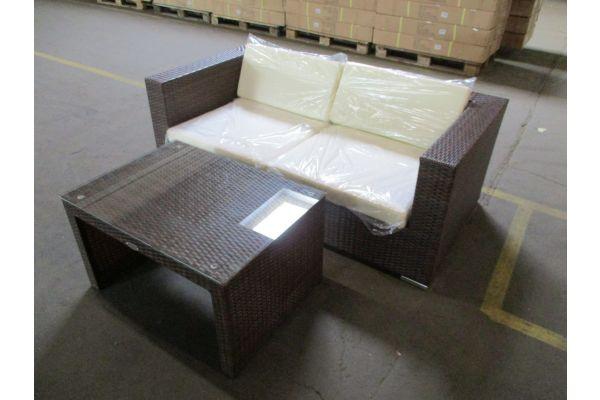 #HBM 1783: 2er Sofa bestehend aus 2 Eckelementen 3-1-1 mit Tisch Casablanca