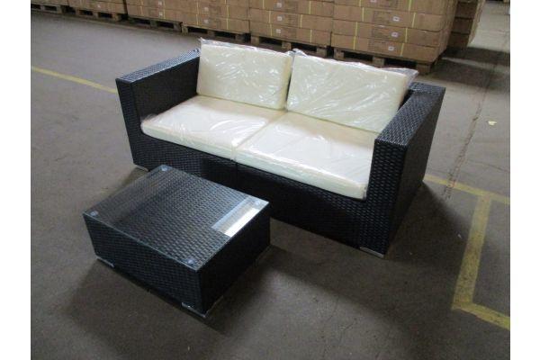 #HBM 1784: 2er Sofa bestehend aus 2 Eckelementen mit Tisch 3-1-1
