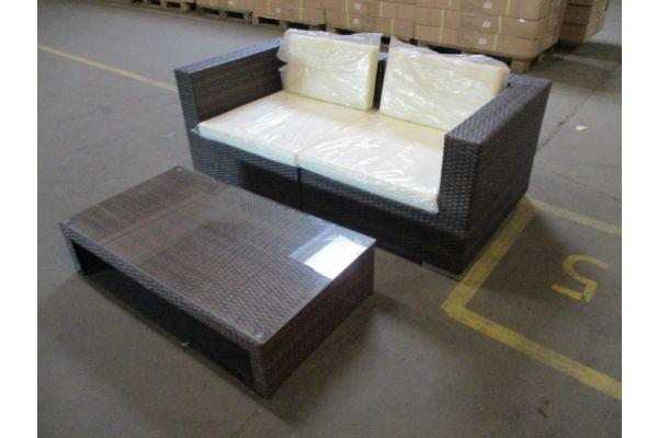 #HBM 1785: 2er Sofa bestehend aus 2 Eckelementen 3-1-1 mit Tisch Casablanca